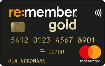 Kredittkortet re:member Mastercard gold. Foto: EnterCard Group
